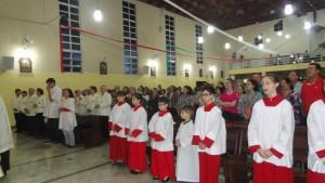 Toda a comunidade veio para ver Nossa Senhora Aparecida Peregrina
