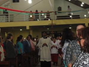 Todas as comunidades participaram da liturgia